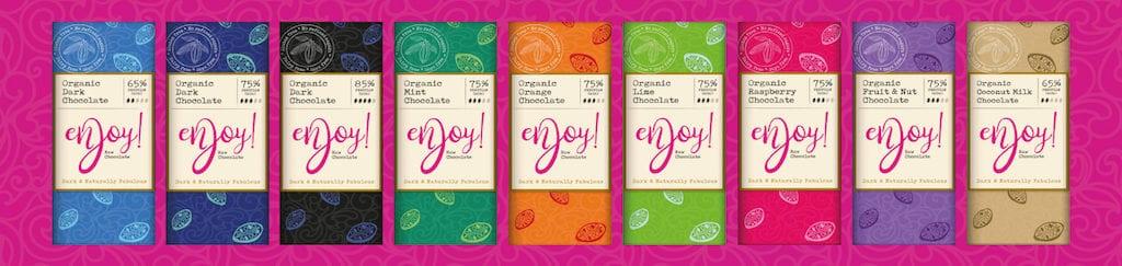 Enjoy Raw Chocolate range